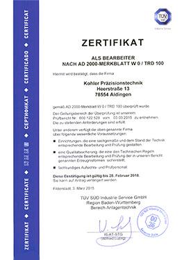 Zertifikat Umstempelberechtigung