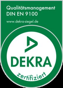 Certified to DIN EN 9100:2009